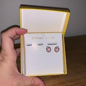 [Kendra Scott] Silver/Pink Stone Earrings